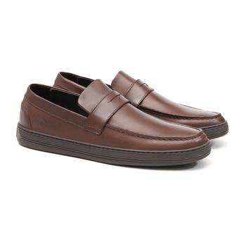 Mocassim s/b SOUL Look Brown- Sapato Masculino Loafer Samello - SAMELLO