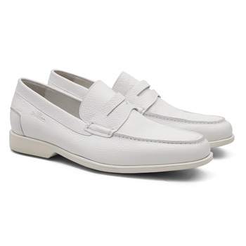 Comfort Gel OVIEDO Branco - Sapato Masculino LoaferSamello - SAMELLO