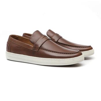 Mocassim s/b SOUL Tan - Sapato Masculino Loafer Samello - SAMELLO