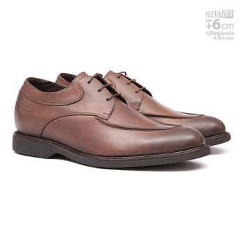 Elevator Casual s/b COUPE Cuoio - Sapato Masculino Oxford Samello - SAMELLO