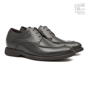 Elevator Casual s/b COUPE Preto - Sapato Masculino Oxford Samello - SAMELLO