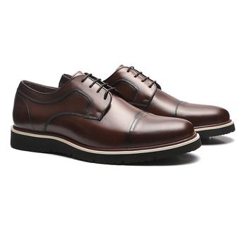 Sapato Derby Casual Masculino Em Couro Brown - 024... - SERGIO`S