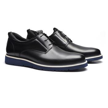 Sapato Derby Casual Masculino Em Couro E Neoprene ... - SERGIO`S