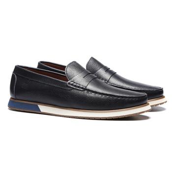 Sapato Loafer Masculino Casual Em Couro Navy - 024... - SERGIO`S