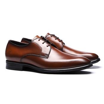 Sapato Derby Social Masculino Em Couro Cobre - 024... - SERGIO`S