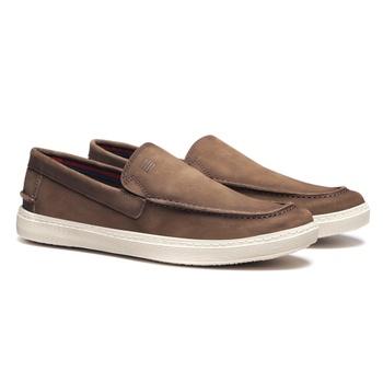 Sapato Masculino Mocassim Casual Cimento em Couro ... - SERGIO`S