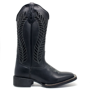 Bota Texana Feminina High Country 5879 Napa Gucci Black - Store Country
