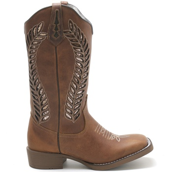 Bota Texana Feminina High Country 1787 Crazy Horse Havana - Store Country