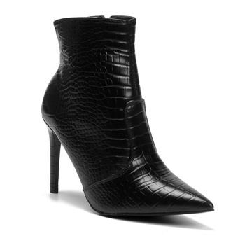 Bota Violanta Oriente Croco Preta - Violanta Calçados Femininos