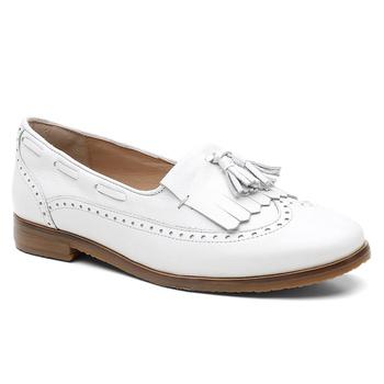 Loafer Violanta Couro Bari Branco - Violanta Calçados Femininos
