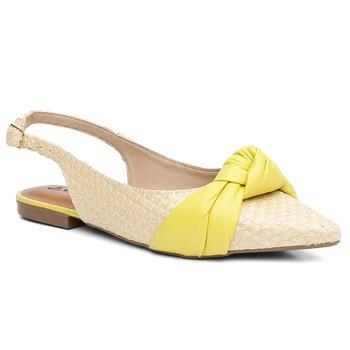 Sapatilha Couro Violanta Grécia limone - Violanta Calçados Femininos