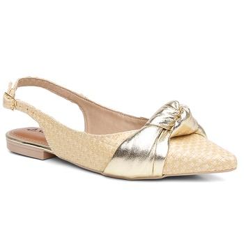 Sapatilha Couro Violanta Grécia Ouro - Violanta Calçados Femininos
