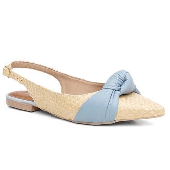 Sapatilha Couro Violanta Grécia Azul - Violanta Calçados Femininos