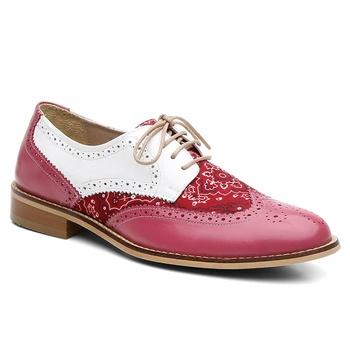 Oxford Violanta Lindoia Pink Branco - Violanta Calçados Femininos