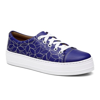 Tênis Violanta Turim Azul - Violanta Calçados Femininos