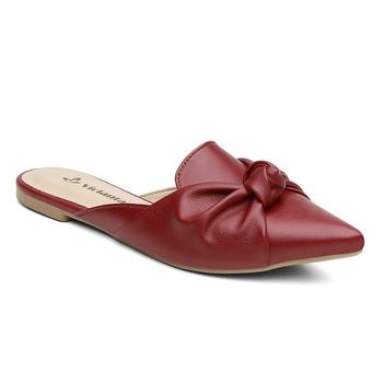 Mule Violanta Uruguai Vermelho Escuro - Violanta Calçados Femininos