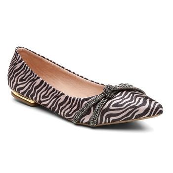 Sapatilha Violanta Oberá Zebra Preta Bege - Violanta Calçados Femininos