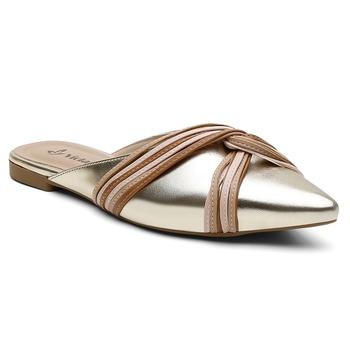 Mule Violanta Macaé Ouro Light - Violanta Calçados Femininos
