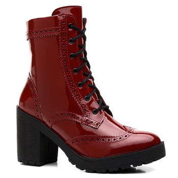 Bota Violanta Jamaica Vermelha - Violanta Calçados Femininos