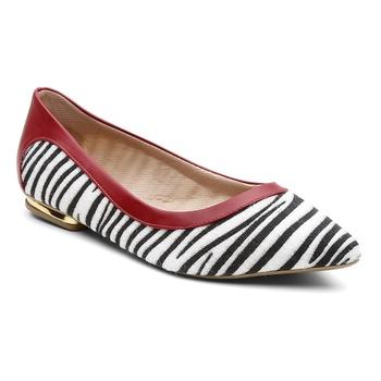 Sapatilha Violanta Africa Zebra Vermelho - Violanta Calçados Femininos
