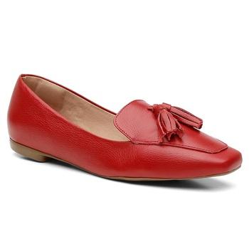 Sapatilha Couro Violanta Luanda Vermelha - Violanta Calçados Femininos