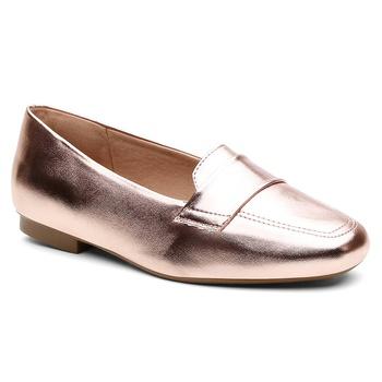 Sapatilha Violanta Anori Metal Rosê - Violanta Calçados Femininos