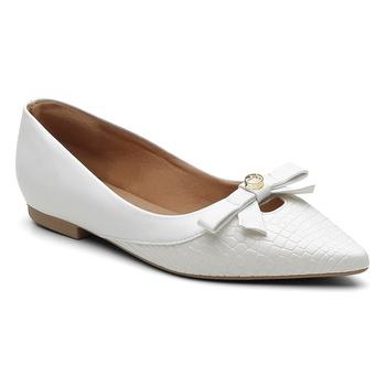 Sapatilha Violanta Atlântida Branco - Violanta Calçados Femininos
