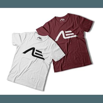 Kit 2 Camisetas Masculina Adaption Branca/bordo - Adaption
