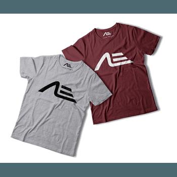Kit 2 Camisetas Masculina Adaption Cinza/bordo - Adaption