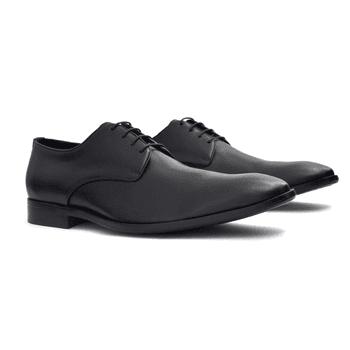 Sapato Social de Couro Preto com Cadarço