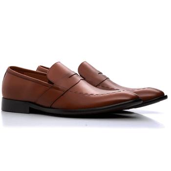 calçado social masculino loafer tabaco