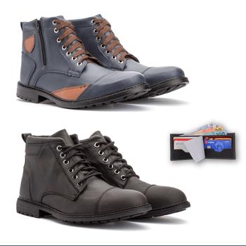 Kit Com 2 Pares - 506/505 + carteira - Fratelli Outlet | Especialista em Sapatos Sociais de couro