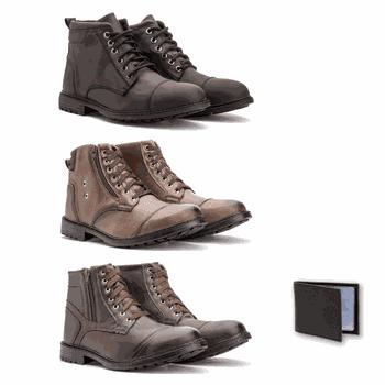 Kit 3 Pares - 501/502/506+ carteira - Fratelli Outlet | Especialista em Sapatos Sociais de couro