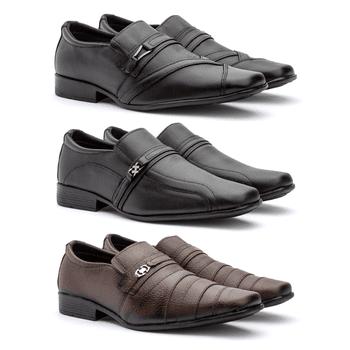 COURO BOVINO KIT C/ 3 PARES 26FC/05FP/22FP - Fratelli Outlet | Especialista em Sapatos Sociais de couro