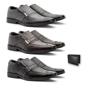 Kit 3 PARES EM COURO+BRINDE - Fratelli Outlet | Especialista em Sapatos Sociais de couro