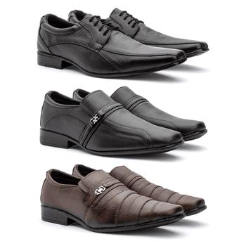 Kit 3 Pares em couro 451/26cap/05fp - Fratelli Outlet | Especialista em Sapatos Sociais de couro