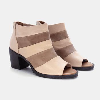 Sandália London Nude e Areia - LD061/001 - Balatore Shoes