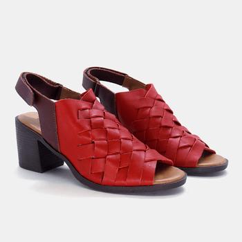 Sandália London Carmin e Bordô - LD074/003 - Balatore Shoes