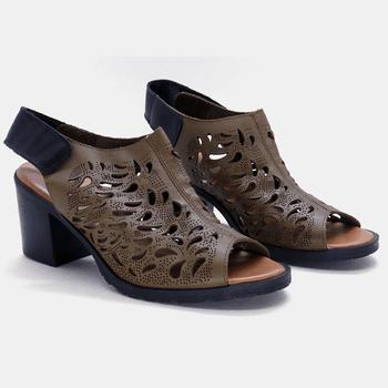 Sandália London Verde Militar - LD025/OL - Balatore Shoes