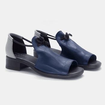 Sandália Florença Marinho e Grafite - FL003/036 - Balatore Shoes