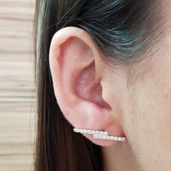 Brinco Semi Joia Ear Hook Pequeno Ouro