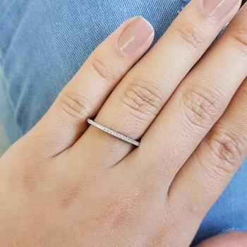 Anel Micro Zircônia Prata