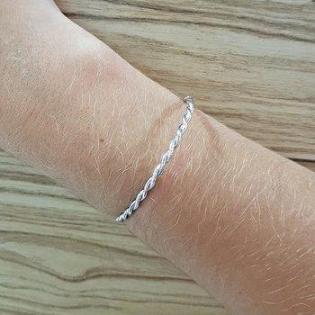 Pulseira Bracelete Retorcida Prata