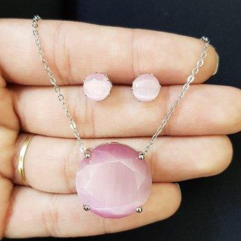 Conjunto Prata Rosa