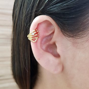 Brinco Ear Cuff Garra Piercing Falso