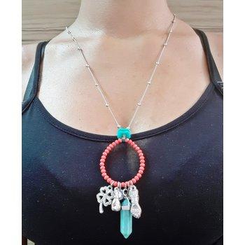 Colar Amuletos Coral