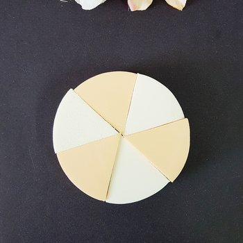 Kit Esponjas em Látex Branco e Salmão