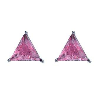 Brinco Pequeno Zoe Pedra Fusion Grafite Pink