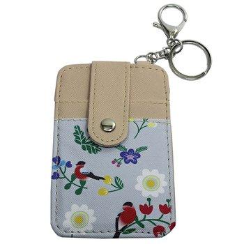 Chaveiro Porta Cartão Bege