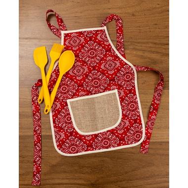 Avental bandana red - ATELIER COUVERT